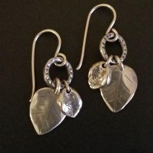 Silpada Sterling Silver Leaf Earrings